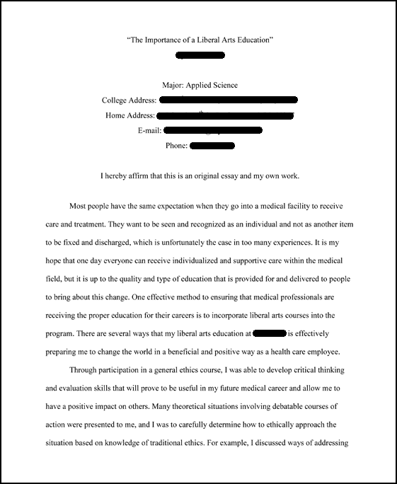 how to type a scholarship essay